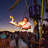 The Pirate Show at the Sunset Cruise features fire dancers